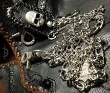 wallet custom leather chain biker trucker skull concho key ring snake clip  USA