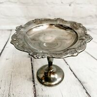 VTG Antique Gorham Chantilly Duchess Footed Pedestal Bowl Dish Silver Plated