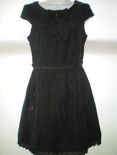 LITTLE BLACK DRESS SIZE 10 RIVER ISLAND SEQUIN TRIM VGC LBD