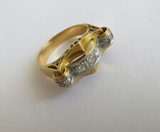Antik Ring Diamanten Art Deco 750 Gold Platin Diamanten ca.0,35 ct Gr. 54 1930