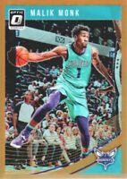 2018-19 Donruss Optic Basketball Orange #28 Malik Monk /199 Charlotte Hornets