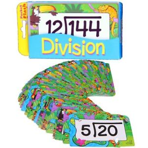 DIVISION New Pocket Flash Cards 56pk Maths See n Say Number