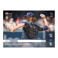2019 TOPPS NOW Chris Paddack #30 San Diego Padres Rookie RC PR - 615 SP!