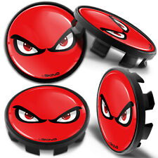 4 x 68mm - 65mm Alloy Wheel Centre Hub Center Rim Caps Compatible with BMW Red