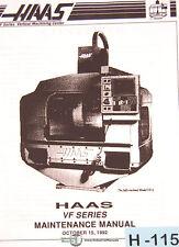 Haas VF VMC, Programming Maintenance and Assembly Manual 1992