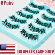 False Eyelashes MultiPack Demi Wispies Black 5 Pairs Natural Fake Lashes US SHIP