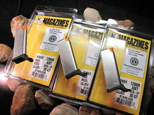 3-Pack AMT BACKUP .380 Mags Blue 5 Round Magazine Mag Magazines FLUSH FIT SST