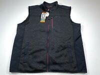 Orvis XXL Men's Black Sweater Fleece Vest Sleeveless NEW NWT