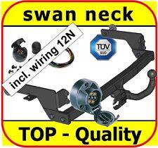 Towbar & Electric 12N Renault Laguna II Hatchback 5-Door 2001 to 2007 swan neck