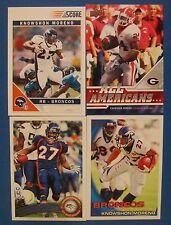 KNOWSHON MORENO 4 CARD LOT 2009 UD DRAFT 2010 TOPPS & 2011 SCORE & TOPPS