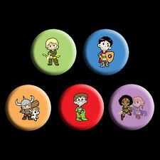 Dungeons and Dragons 80s cartoon badge set