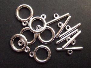 3 set chiusure AT in metallo colore argento  x bracciale,collana bigiotteria