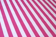 HOT PINK WHITE CABANA STRIPE SUMMER PICNIC DINE OILCLOTH VINYL TABLECLOTH 48x84