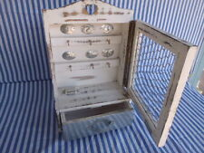 Retreat Home White Cut Out Heart  Key Cupboard with chicken mesh wire