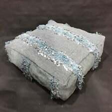 Free Shipping! Vintage moroccan pouf, wedding blanket pouf, handira pouf