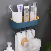 Duschregal Duschablage Badregal Duschkorb Badablage mit Haken ohne Bohren