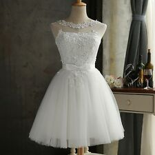Womens Lace Short Dress Slim Prom Evening Party Cocktail Bridesmaid Wedding Gown