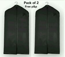 2 x Suit Cover New Peva Garment Clothes Dress Shirt Cover Travel Bag Black AB