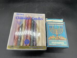 Rite-Lite Premium Chanukah Candles. Handcrafted Box Of 45 NEW + Extra's Used