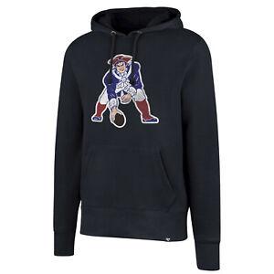 New England Patriots Men's Throwback Logo Pullover Hoody Sweatshirt - Navy