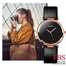 Montre Luxe Quartz Japonais Femme SINOBI Classique Bracelet CUIR Extrat Plate