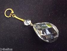 Ancienne PAMPILLE Cristal montée en PORTE CLES / Bijoux