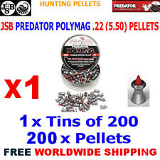 JSB PREDATOR POLYMAG .22 5.50mm Airgun Pellets 200pcs (HUNTING PELLETS)