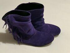 Asos Purple Suede Fringed Boots UK Size 3