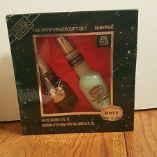 Vintage Faberge BRUT for Men Eau De Cologne & After Shave w/ Collagen Gift Set
