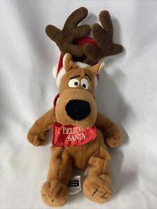 """Warner Brothers Scooby-Doo Reindeer Believe Santa Christmas Bean Bag Plush 12"""""""