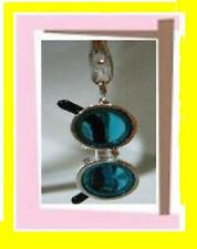 Blue Hippy Sun Glasses John Lennon Style Charm 925 Silver