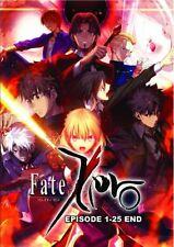 DVD FATE ZERO Complete Season 1+2 Episode 1-25end Anime Fate/Zero English Dubbed