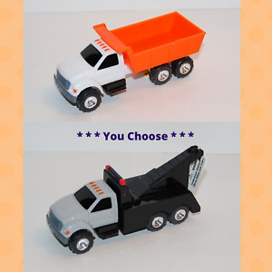 "ERTL DUMP TRUCK or TOW TRUCK 4.25""+ Inch Plastic & Diecast Vehicle *U CHOOSE*"