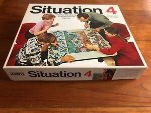 Vintage Board Game Situation 4 Action Puzzle 1968 Parker Bros