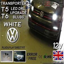 VW T5 T6 Transporter DRL LED Daytime Running Canbus Upgrade Bulbs 50smd 6k WHITE