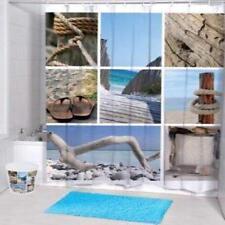 Madera de deriva del Mar Playa varias imágenes Baño Cortina De Ducha Poliéster