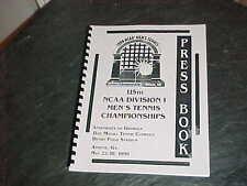 1999 NCAA Division I Men's Championships Tennis Media Guide