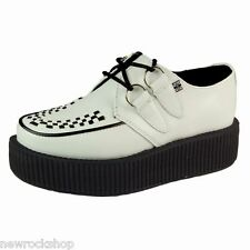Tuk AV6803 T.U.K. New Unisex Viva Hi Sole Creepers  White Leather A6803