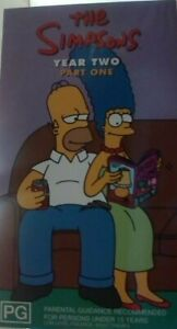 The Simpsons Year 2 Two Part 1 One VHS Box Set, Great Condition.
