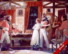 LAURA SECOND WARNS CANADA PAINTING HISTORY WAR OF 1812 ART REAL CANVAS PRINT