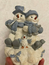 New ListingEnesco: Snow Buddies Horn and Harp Music Box from 1998