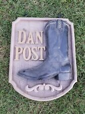 DAN POST BOOT SIGN COWBOY