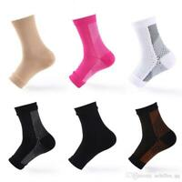 Compression Ankle Sleeve Support PLANTAR FASCIITIS Foot Arch Pain Heel Sock Lot