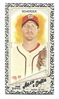 2018 ALLEN & GINTER MAX SCHERZER MINI BLACK BORDER CARD (WASHINGTON NATIONALS)