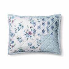 One Blue Dascha Patchwork Pillow Sham Simply Shabby Chic Standard