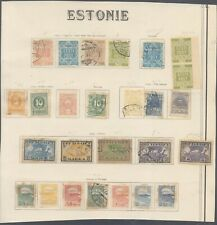 Estonia - Lot of MH/Used Stamps on Collector Page 10000/52