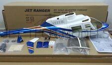 FUNKEY Scale Fuselage JET RANGER .30 (550 size) BLUE COLOR with Landing skid