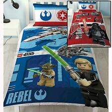LEGO STAR WARS REVERSIBLE DUVET COVER BEDDING SET NEW