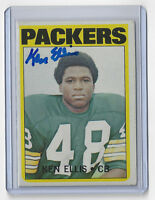 1972 PACKERS Ken Ellis signed card Topps AUTO Autographed Green Bay