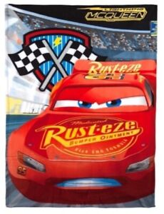 Official Disney Cars Lightning McQueen Character Warm Soft Fleece Blanket Throw
